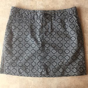 Old Navy Printed Khaki Mini Skirt